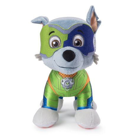 Paw Patrol   8  Mighty Pups Rocky Plush, For Ages 3 And Up - Paw patrol, Paw patrol coloring, Paw patrol coloring pages, Pup, Plush, Paw - 3 to 5 years Plush Figures Toys