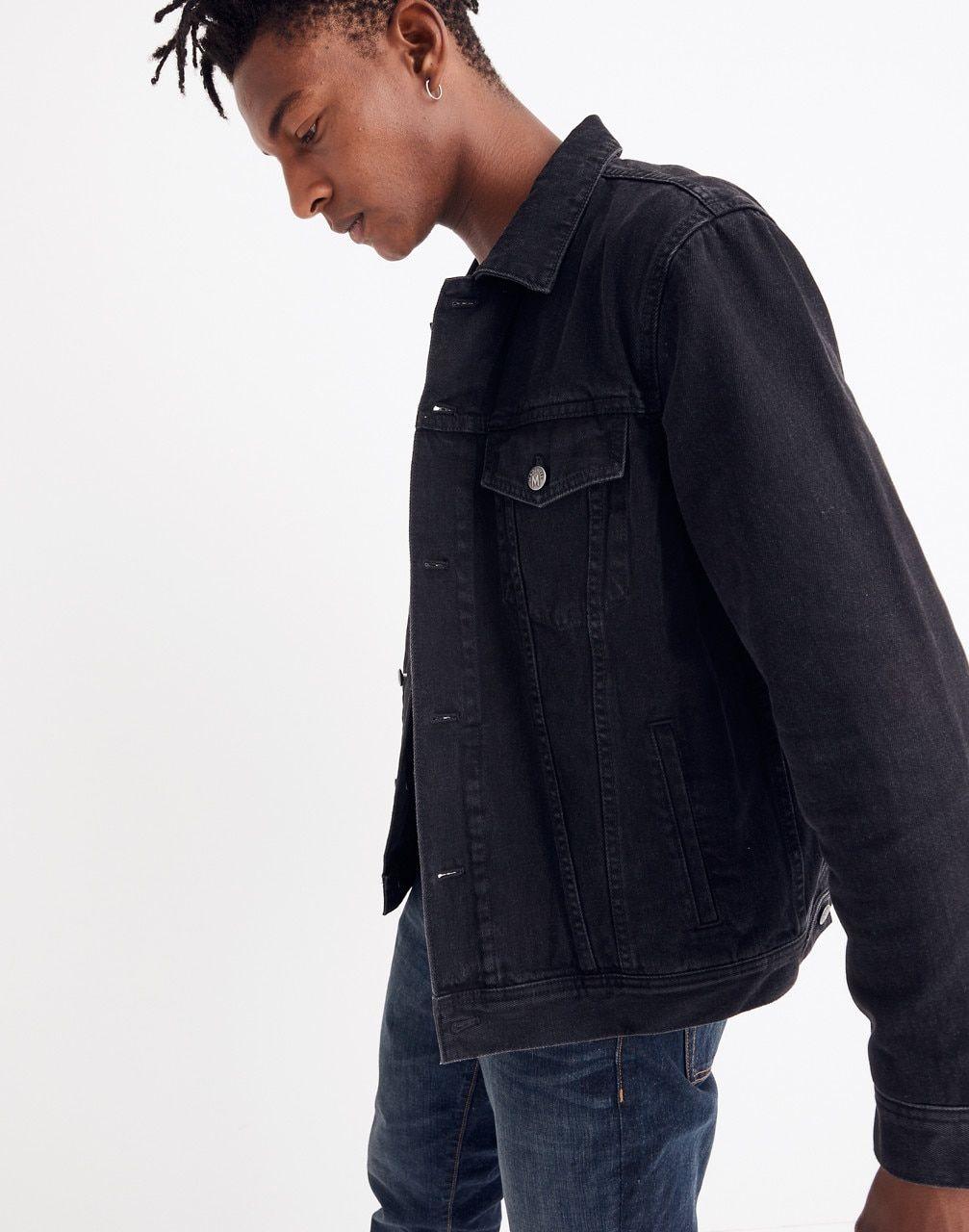 Women S Classic Jean Jacket In Black Denim Jacket Men Classic Jeans Denim Jacket [ 1280 x 1007 Pixel ]