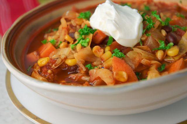 Vegan Southwestern Veggie, Barley and Black Bean Soup