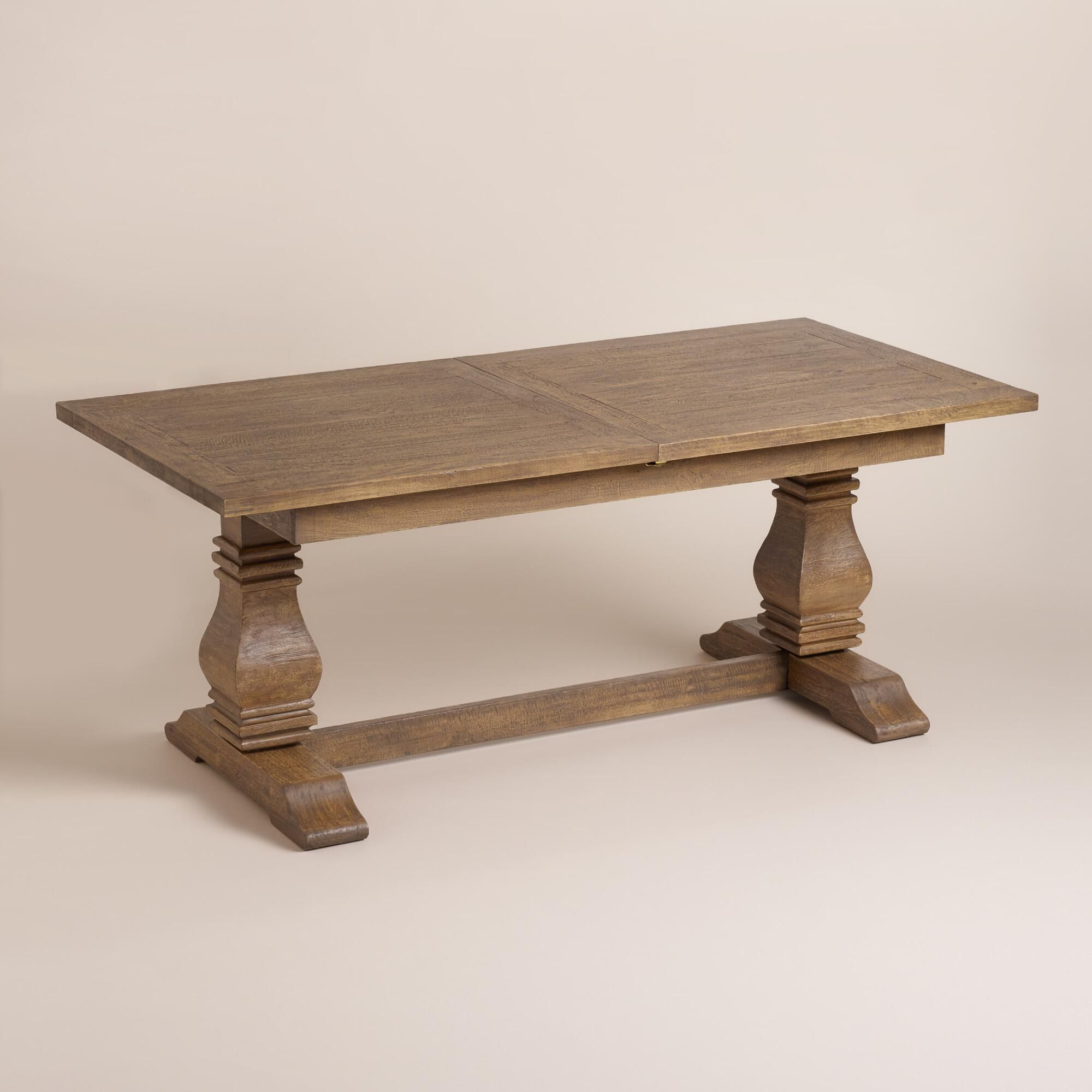 Wood deighton extension dining table more country style for Country style table