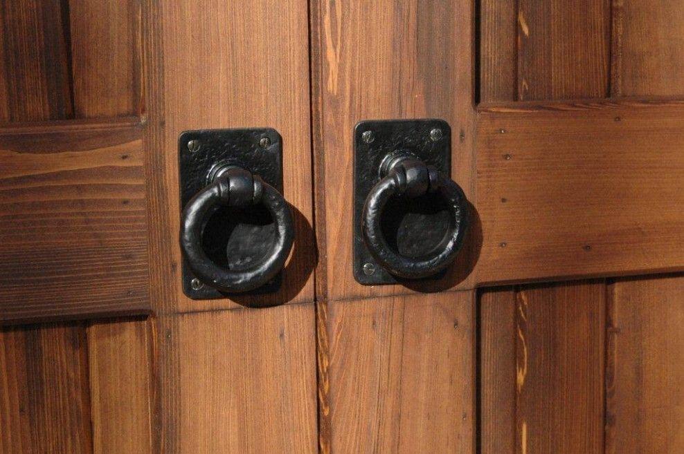 Project Profile Decorative Garage Door Hardware on Wood