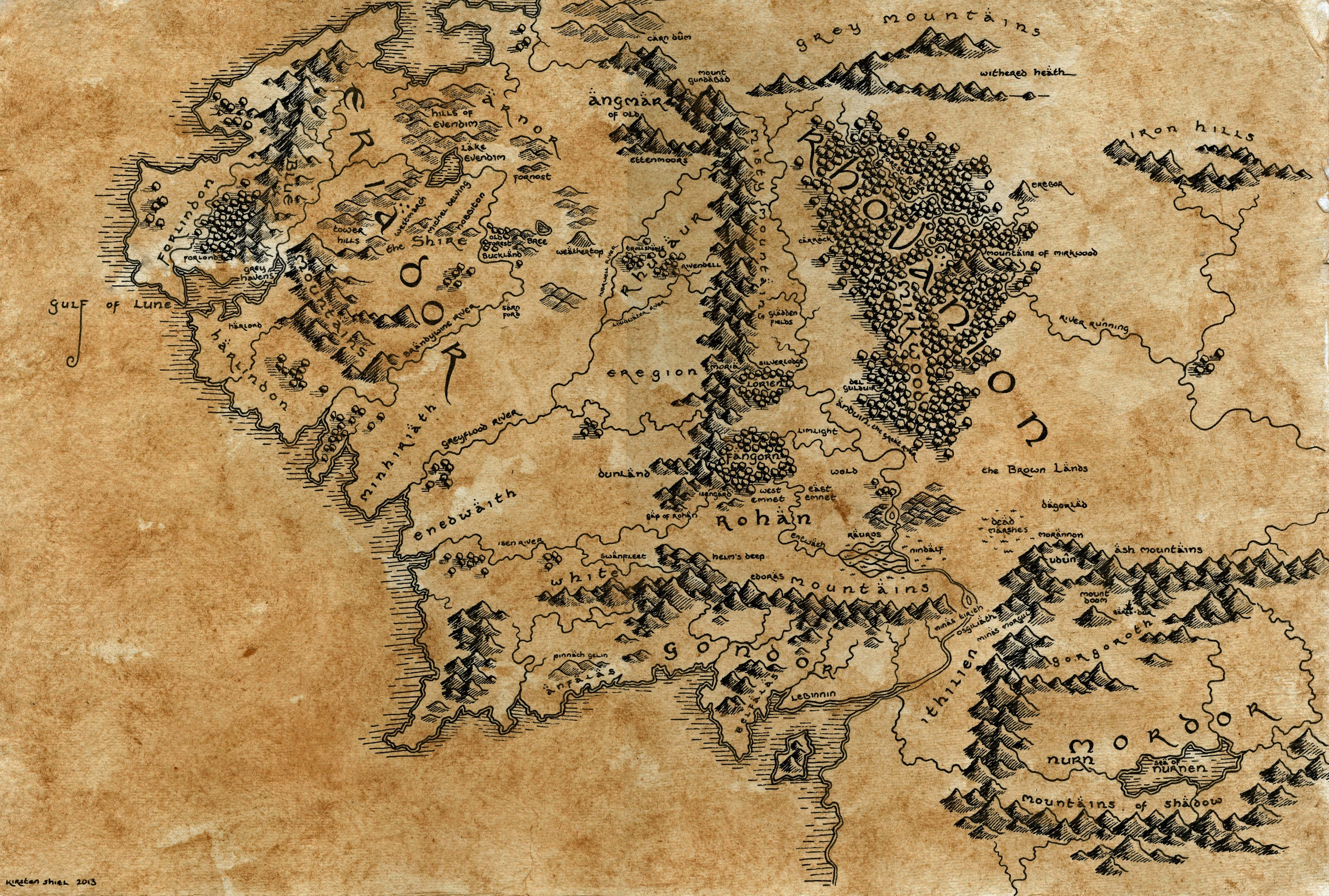 lord of the rings hand drawn middle earth map a · kirsten's cartography ·online store. lord of the rings hand drawn middle earth map a · kirsten's