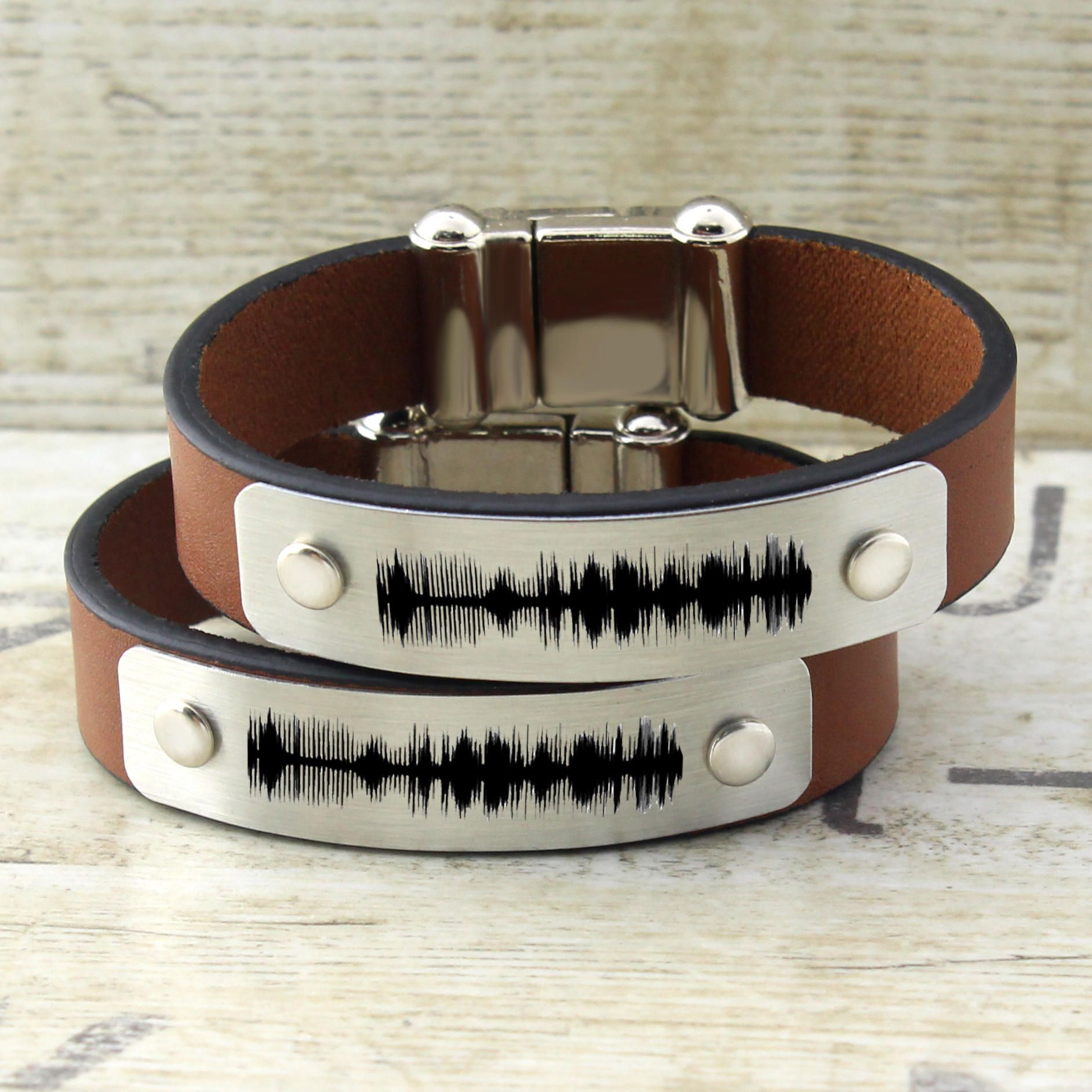 S Bracelets Personalized Sound Wave Bracelet Jewelry Men Women His And Her Matching Gift Idea