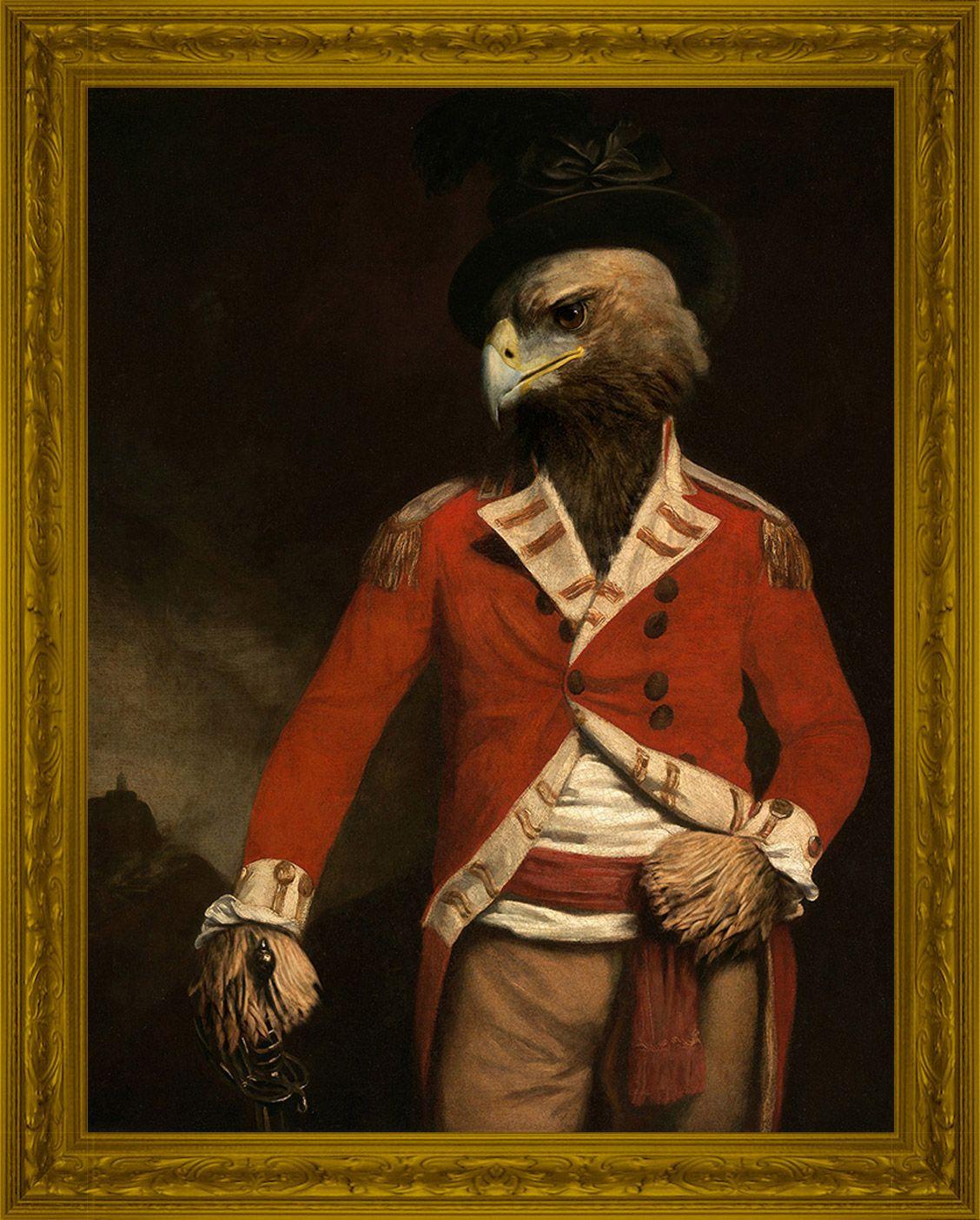 General Eagle. Animal Aristocracy Urban Art Markus Pilgrim #animalaristocracy #markuspilgrim