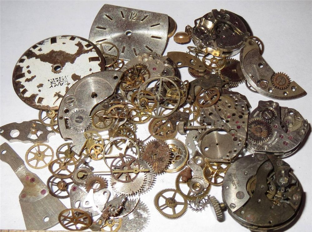 20g GEARS & Mechanical WATCH PARTS Pieces Mechanical Steampunk Vintage Movements in Crafts, Jewelry & Watches | eBay