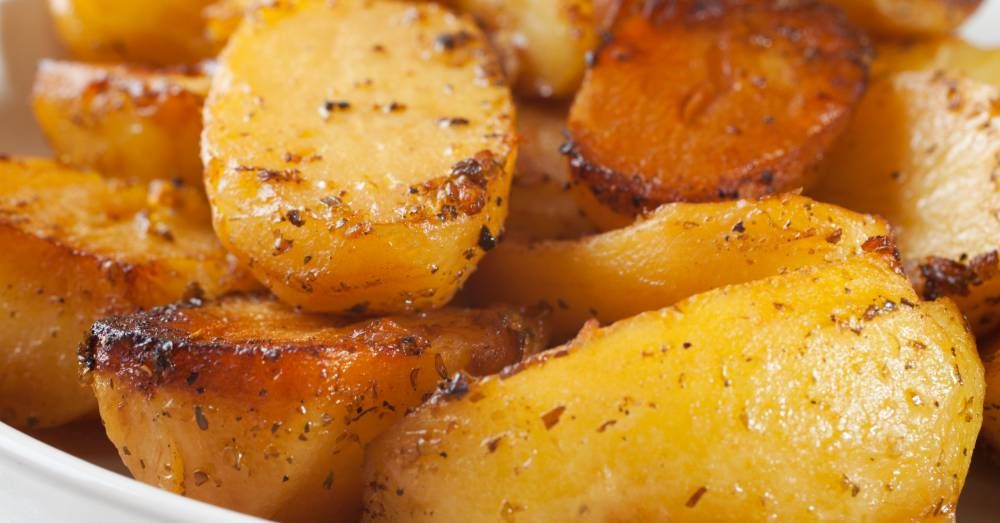Buttery Roasted Potatoes Recipe Potatoes Food Recipes Greek Roasted Potatoes