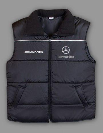 mercedes amg vest 100 polyester logo on front and back 2 front pockets zipped size s m. Black Bedroom Furniture Sets. Home Design Ideas