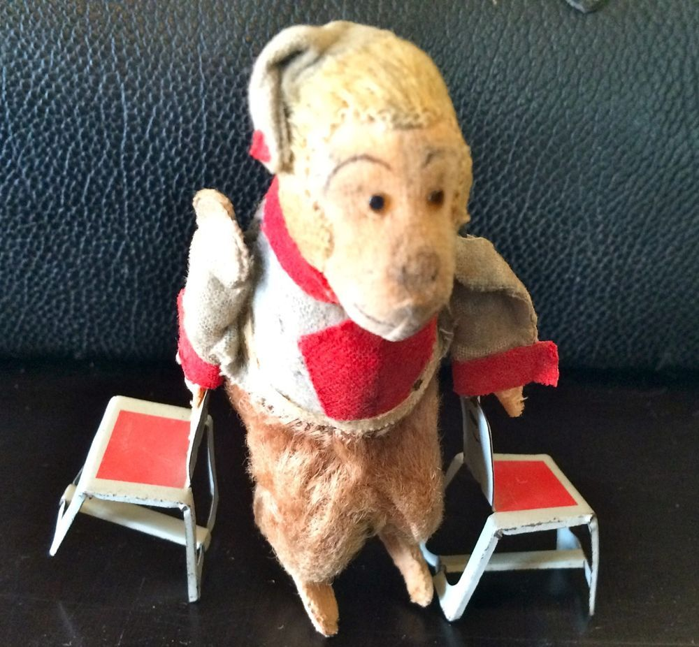 RARE Japanese Vintage Antique 1940 Acrobatic Circus Monkey Chair Animal Tin Toy in Toys & Hobbies, Vintage & Antique Toys, Wind-up Toys | eBay
