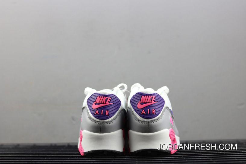 Women Nike Air Max 90 WhiteWolf GreyLaser PinkCourt