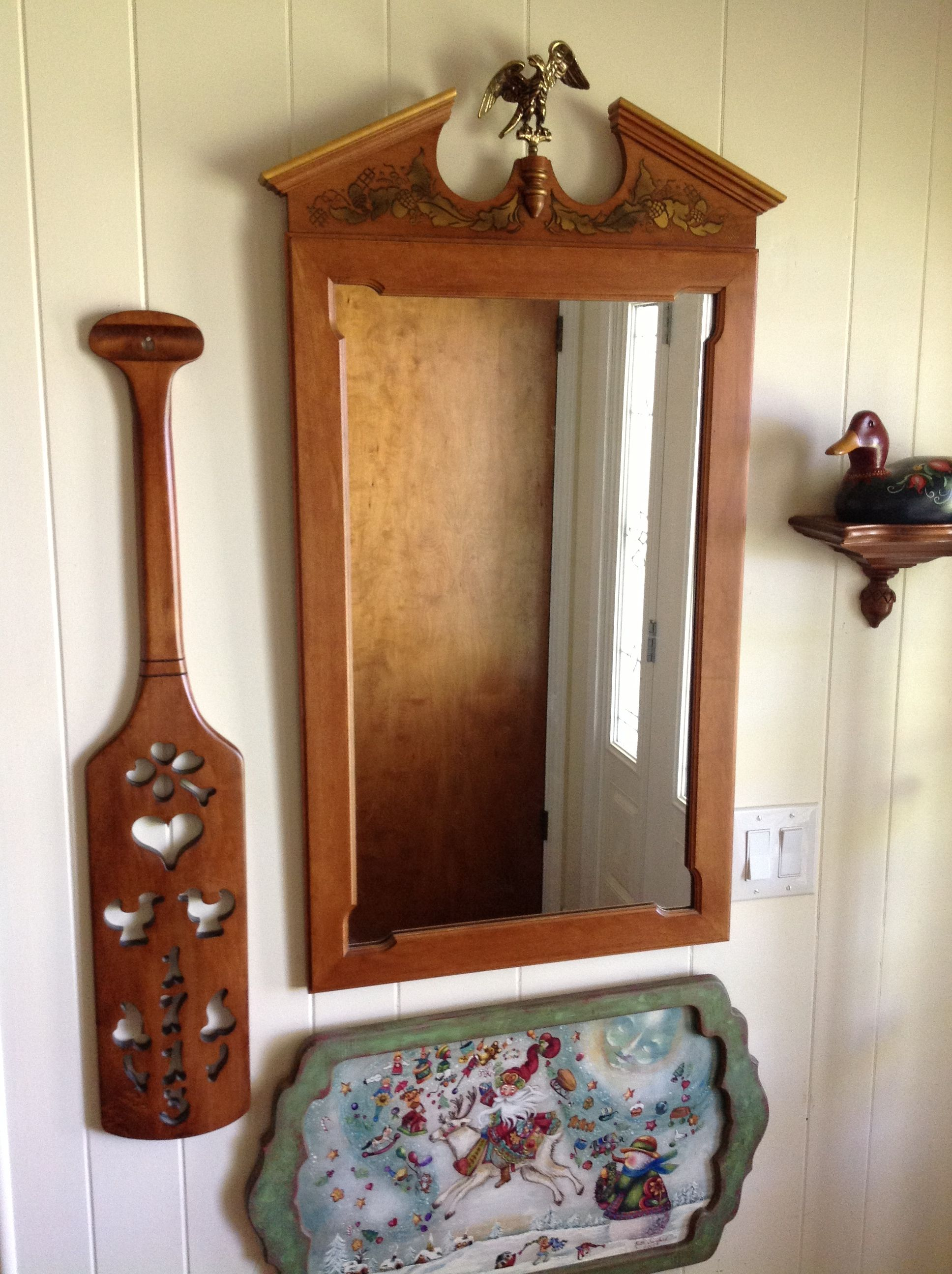 Tell City Chairs Pattern 4222 Used Zero Gravity For Sale Mirror Paddle And Small Acorn Shelf My