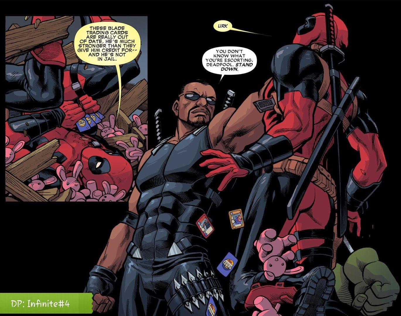 Blade vs Deadpool Marvel deadpool, Deadpool