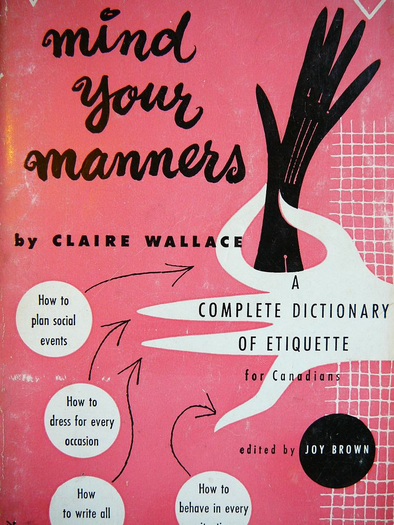 Mind your manners by Claire Wallace.