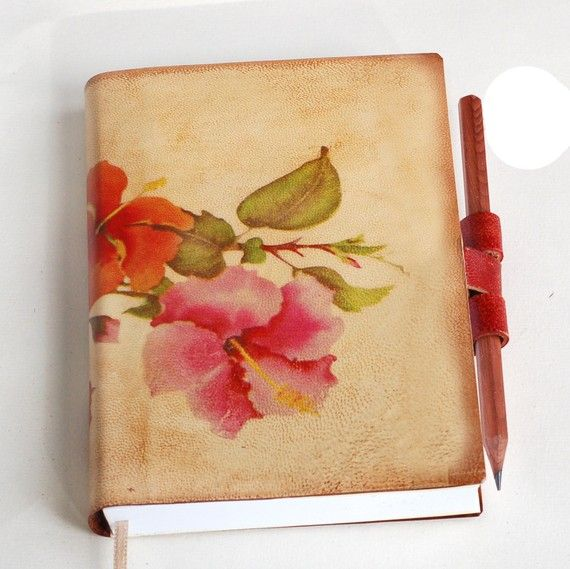Leather journal by revitalbookarts on etsy
