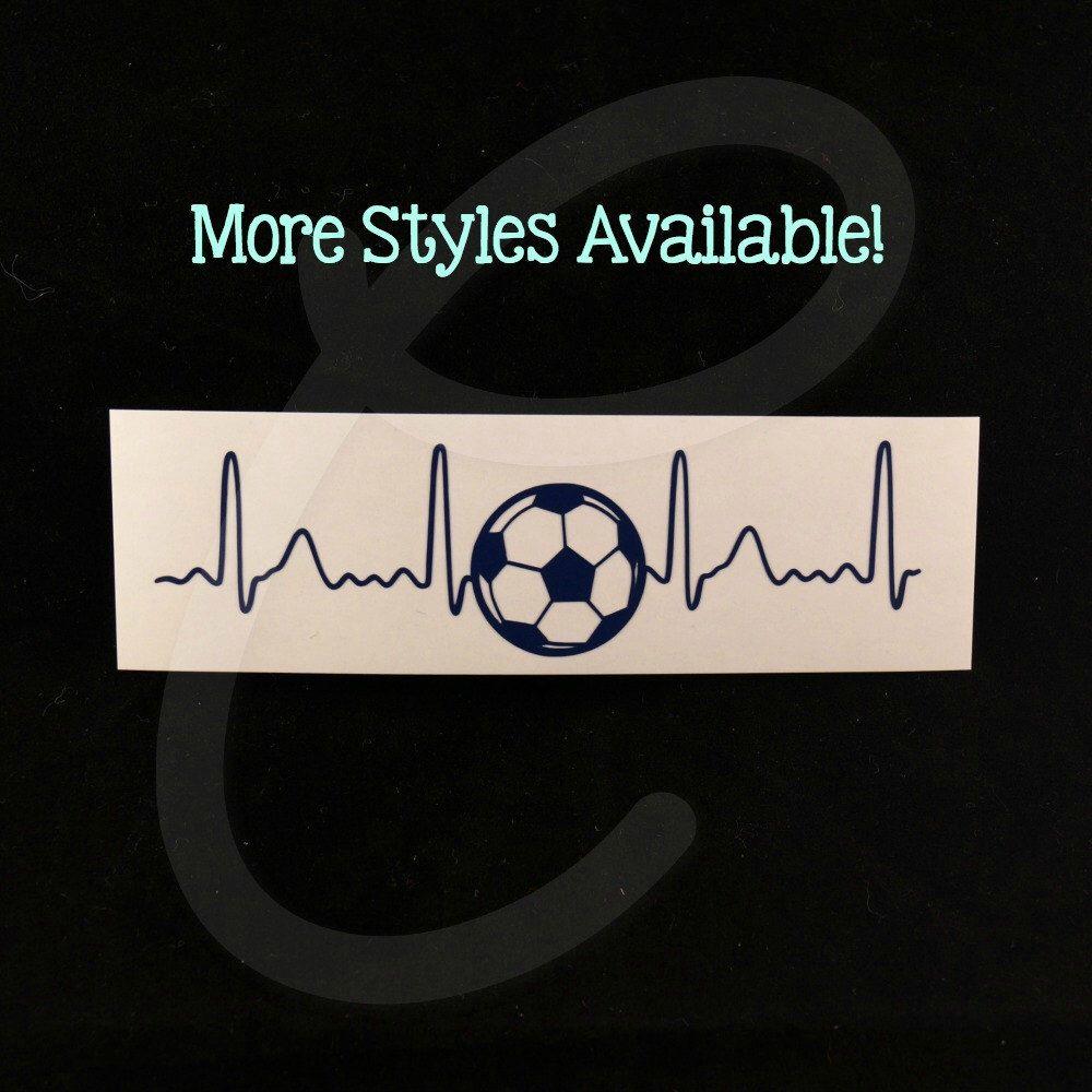 Sports Heartbeat Vinyl Decals 5 Styles Baseball Basketball Soccer Softball Football By Chelsvinyl On Etsy Null Vinyl Decals Vinyl Body Art Tattoos