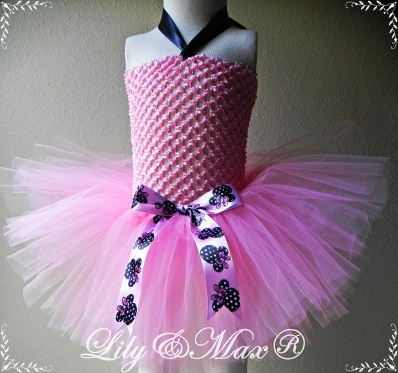 Hey, I found this really awesome Etsy listing at https://www.etsy.com/listing/212805583/minnie-mouse-pink-tutu-dress-minnie