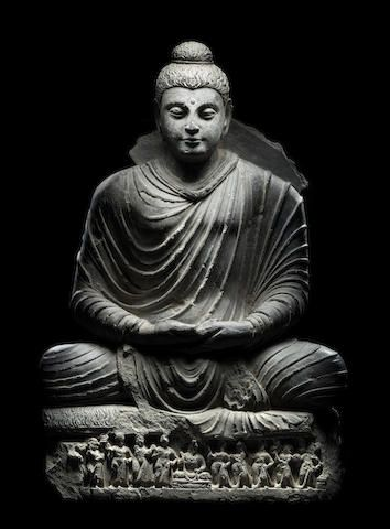A Schist Figure Of Buddha Ancient Region Of Gandhara 3rd 4th Century 99 Cm 39 In High Buddha Buddha Art Buddhist Art