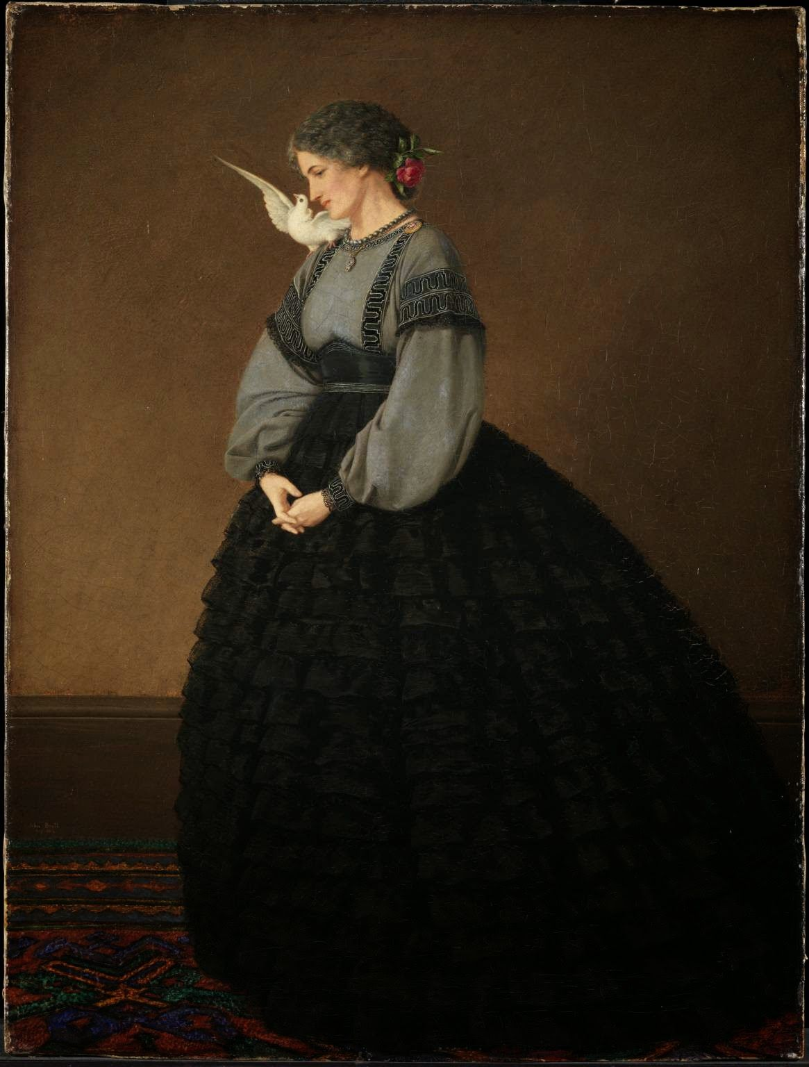 In the Swan's Shadow: Lady with a Dove: Madame Loeser, 1864