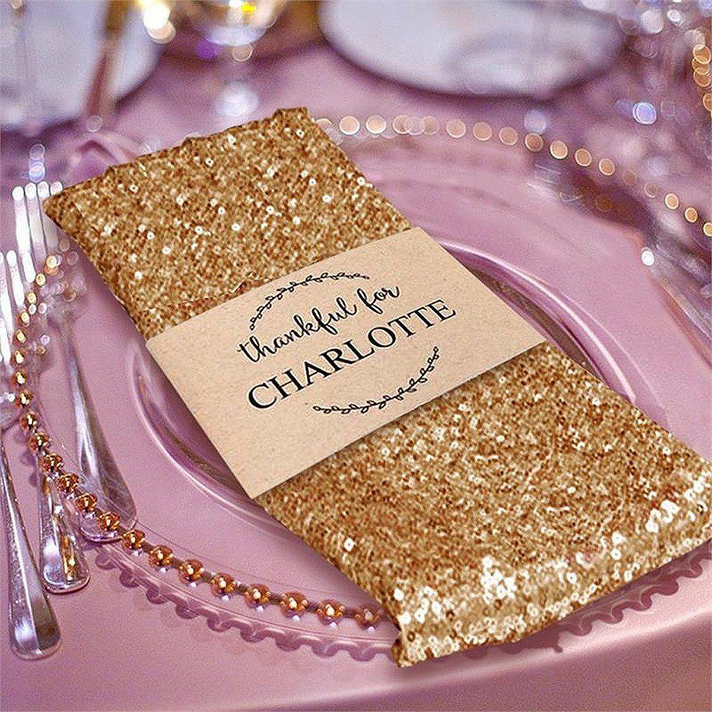 20 X20 Gold Premium Sequin Napkin Wedding Napkins Cheap Wedding Supplies Birthday Party Tableware