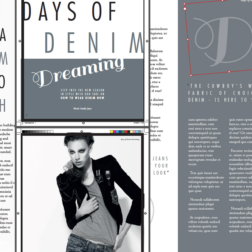 How To Create Layouts For A Fashion Magazine In Adobe Indesign Indesign Fashion Magazine Layout
