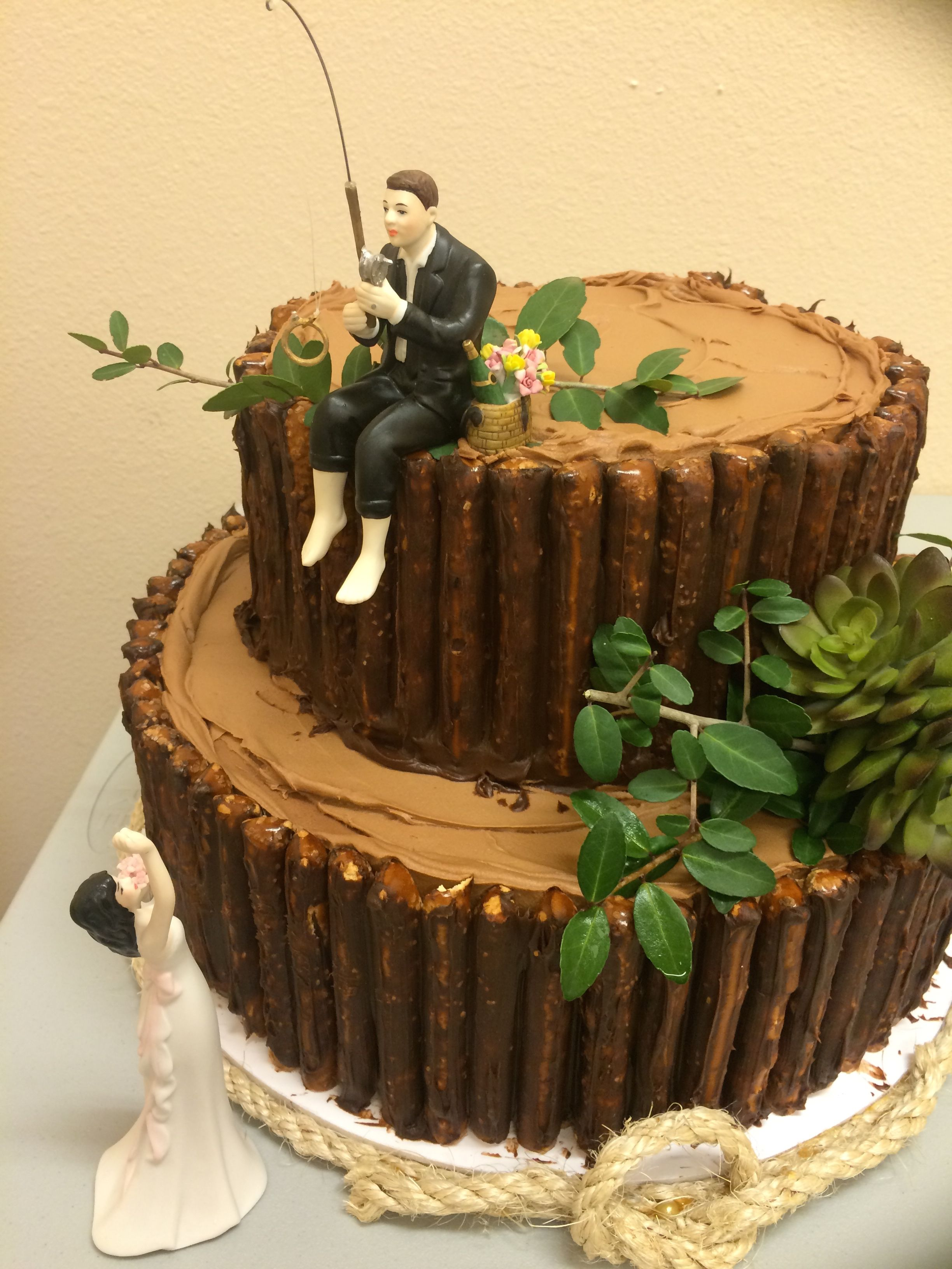 Fishing Groom S Cake With Images Fishing Wedding Cake Toppers