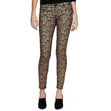 Bisou Bisou® Brocade Jeans - jcpenney - I have these.