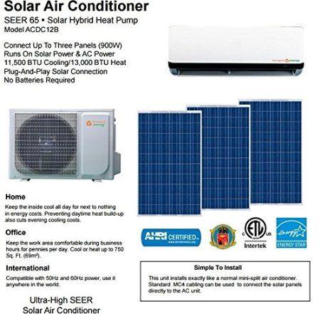 Amazon Com Hotspot Solar Air Conditioner Mini Split System Home Kitchen Solar Air Conditioner Solar Split System