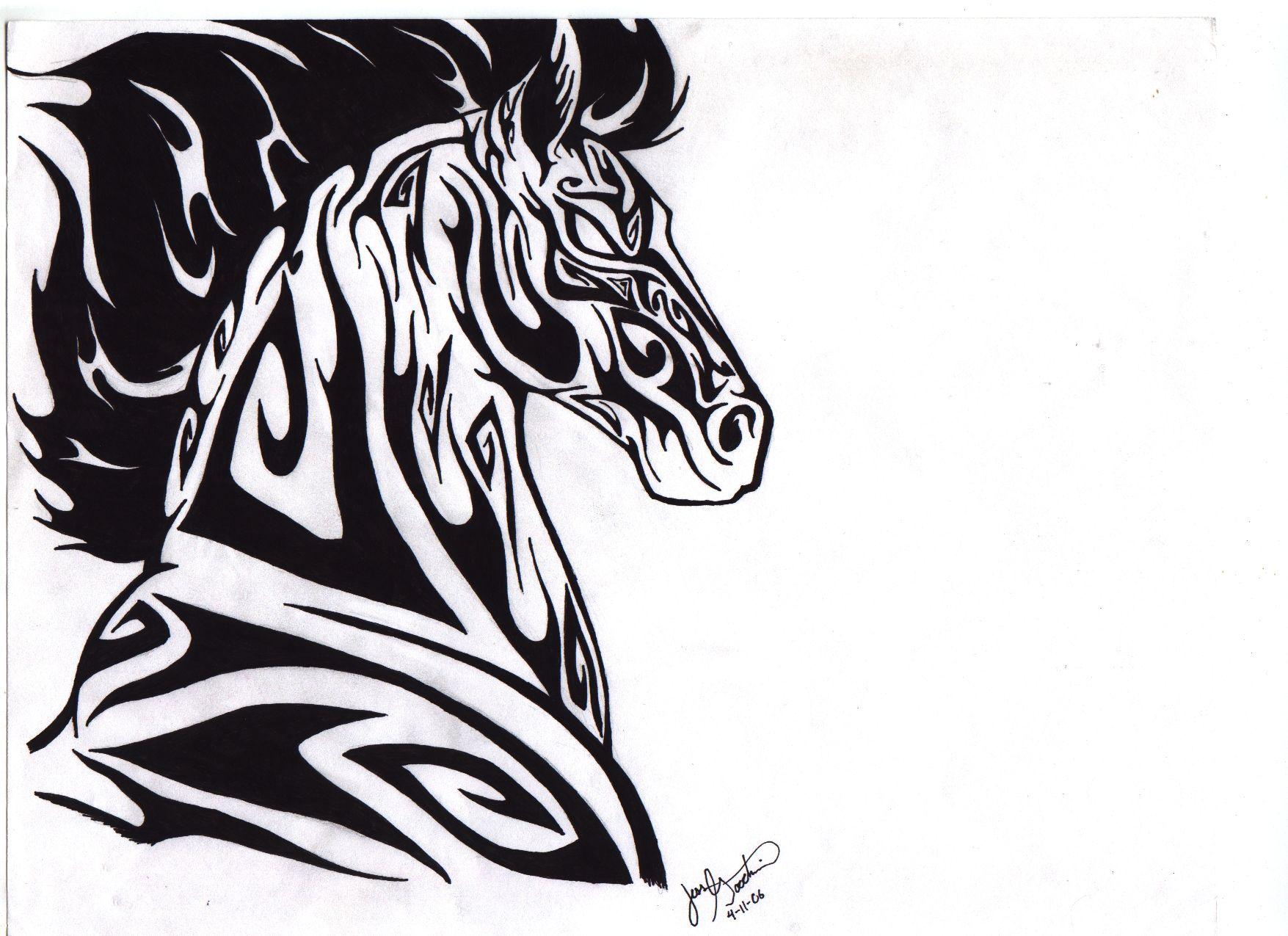Tribal Horse by darkmoonwolf21.deviantart.com on @DeviantArt