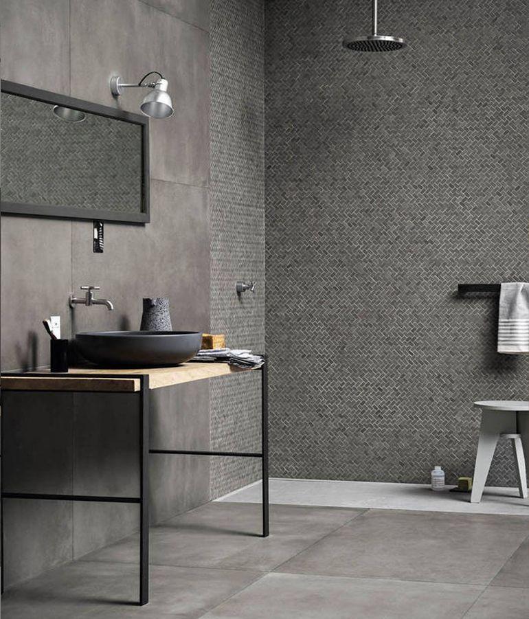 Todo al gris.   Decoracion baños, Azulejos cuarto de baño y ...