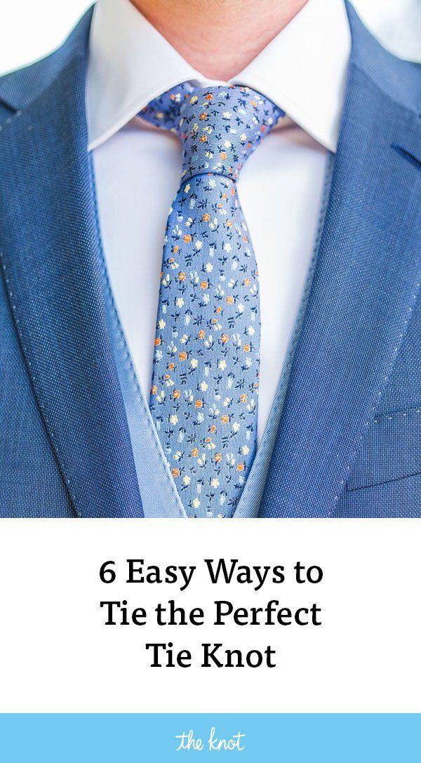 How to Tie a Tie: 6 Easy Tie Knots | Tie knots, Simple tie ...