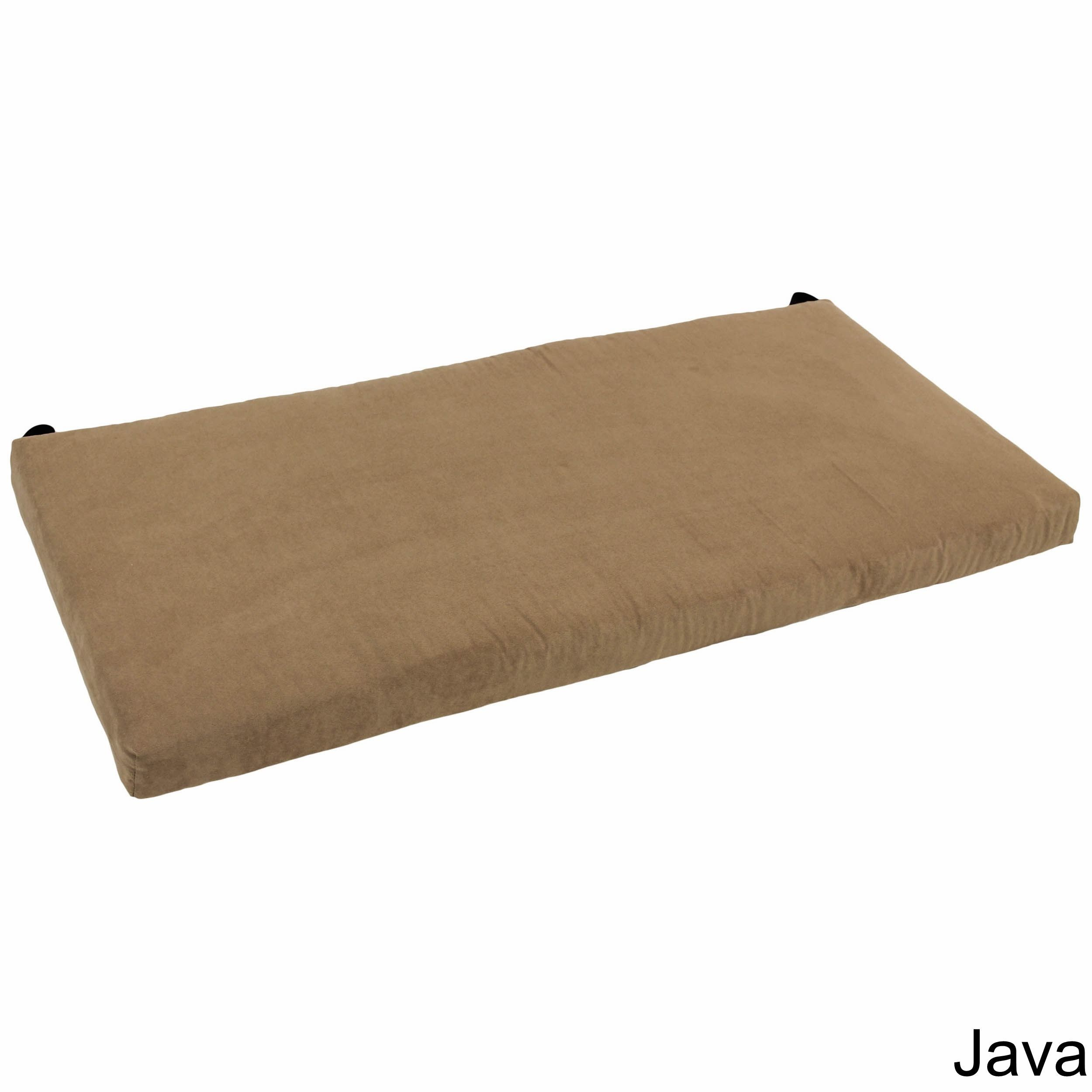 Blazing Needles 42 Inch Microsuede Indoor Bench Cushion Java Brown