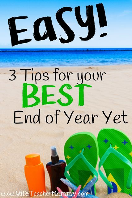 Easy! 3 Tips for your Best End Of The Year Yet. The end of the school year is a time to do some of the things we haven't had time to do during the rest of the busy year! Testing is over, and you have just a little bit longer with your group of students until the summer. Here are some tips to make the BEST of that last bit of time you have with your students and make some great memories! Read more here: http://www.wifeteachermommy.com/2016/04/easy-3-tips-for-your-best-end-of-year.html