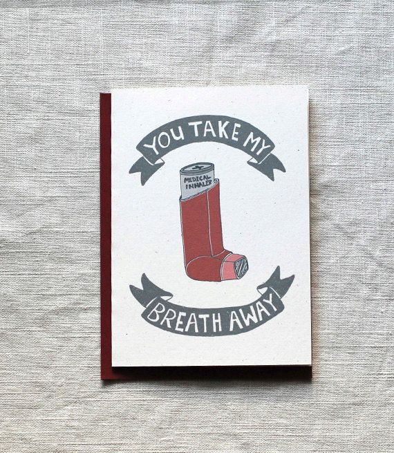 funny love card or valentine card take my breath away by onesharpenedpencil on etsy - Etsy Valentines Cards