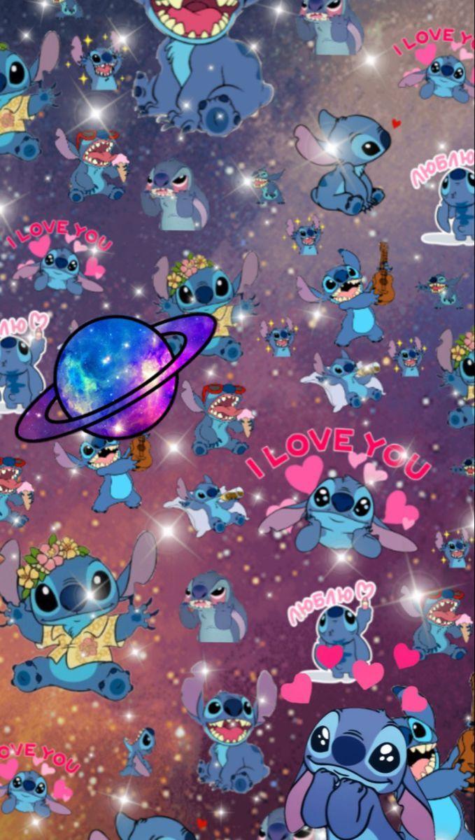Stitch Themed Wallpaper!   Iphone Wallpaper Girly, Cartoon