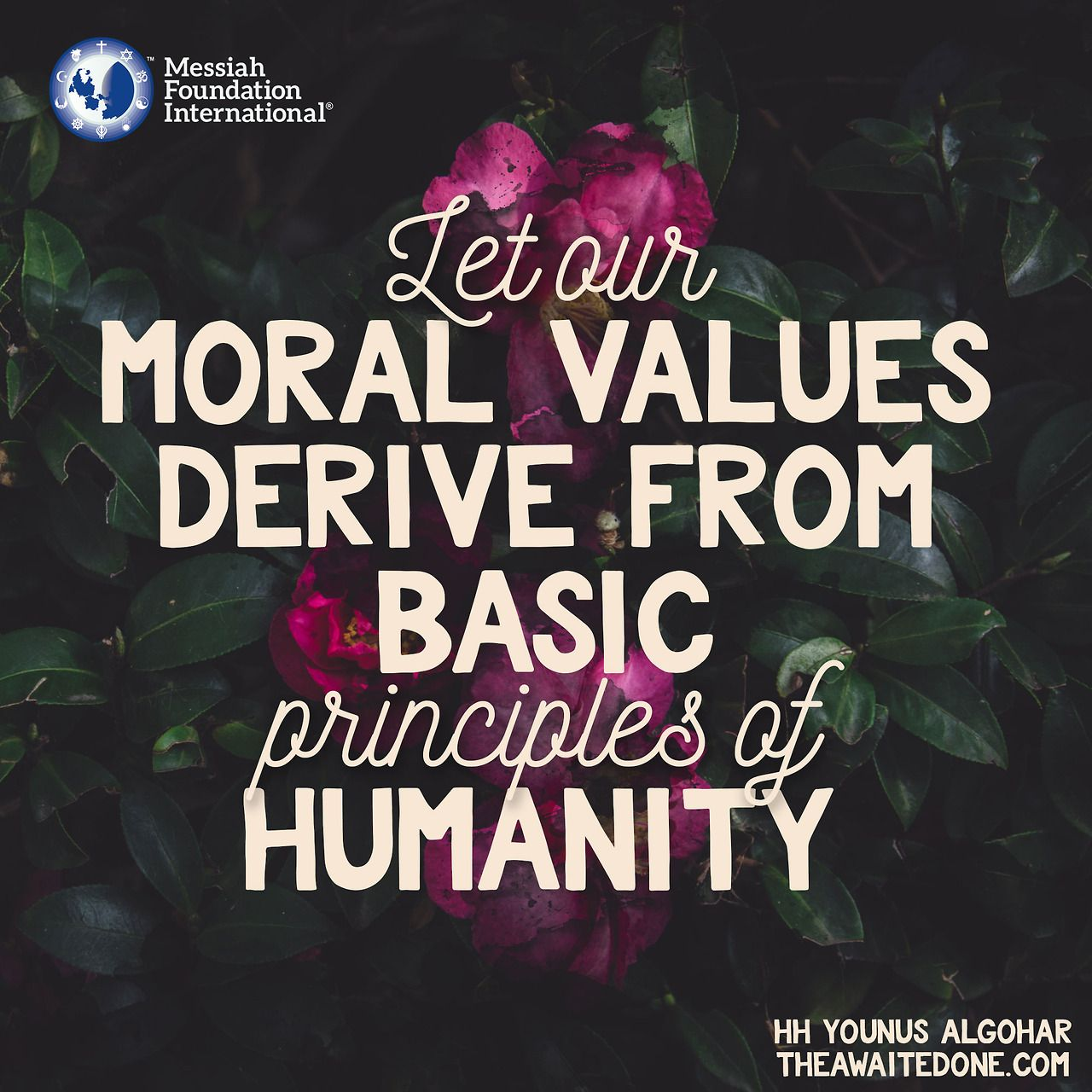 Let Our Moral Values Derive From Basic Principles Of Humanity