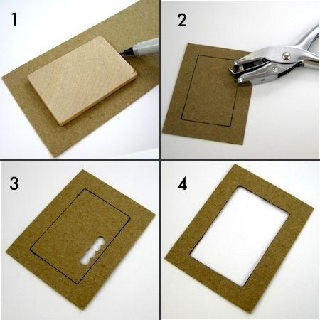 Exelent How To Make Cardboard Photo Frames Festooning - Custom ...