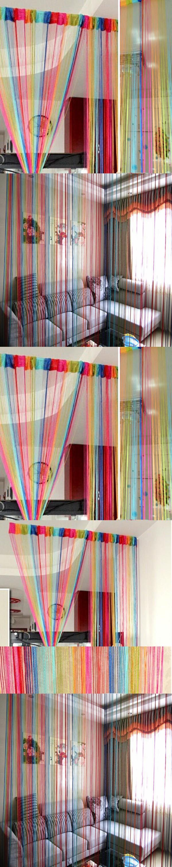 Loft bedroom no door  Vogue Door Window Panel Room Divider Curtain String Line Decorative