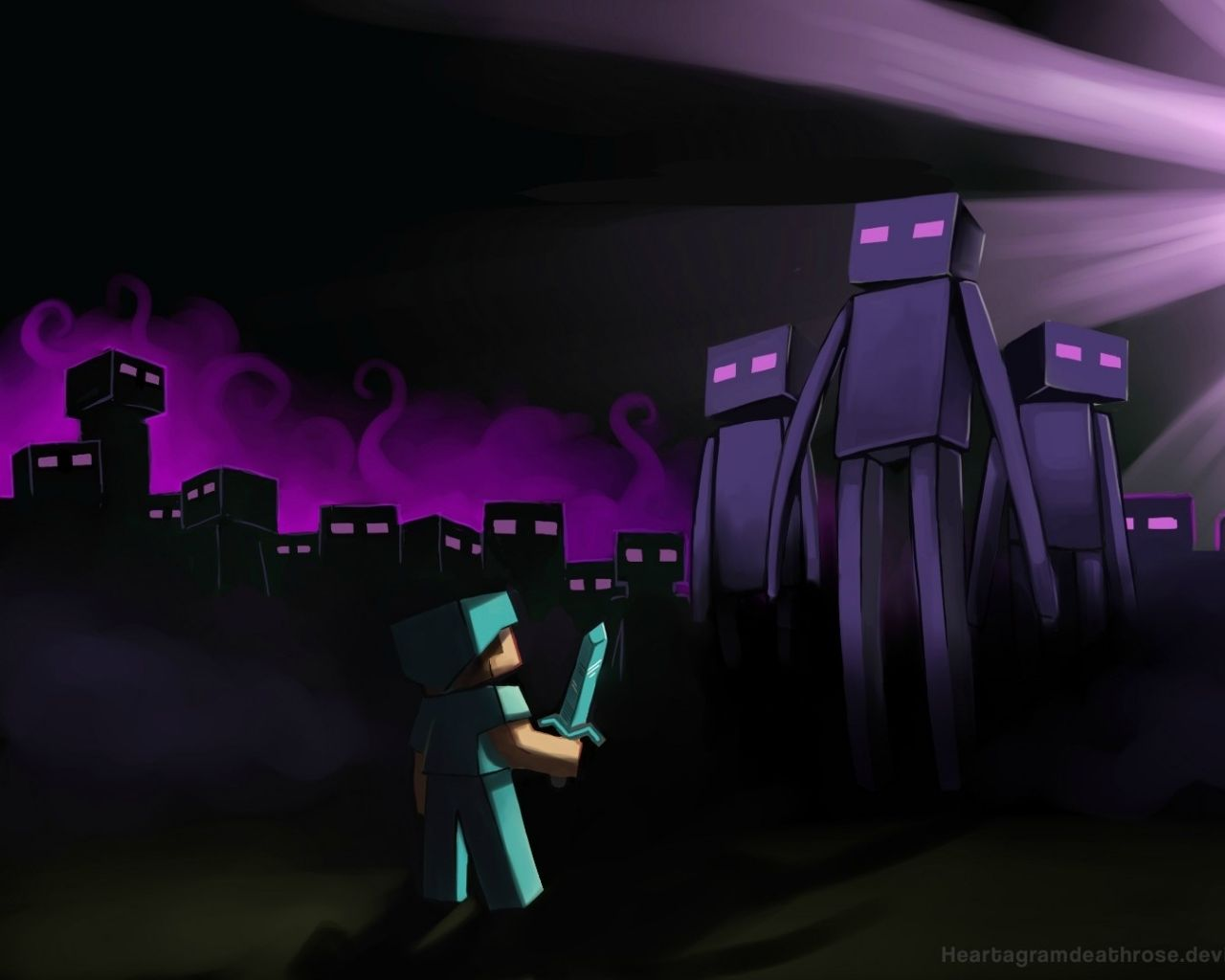 Enderman Rule The Planet O_o Enderman Wallpaper 35260274 Fanpop