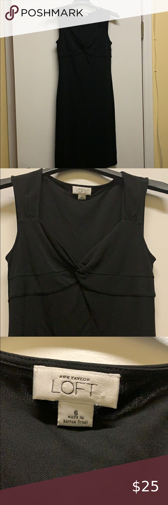 """Ann Taylor loft black dress Dress in great condition. Stretchy material. 38"""" from shoulder to hem. 16"""" bust.  #054 LOFT Dresses"""