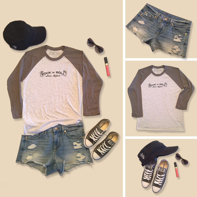 Loving this super casual summer to fall transitional look! #RockandRollLoveAffairTee #DYC