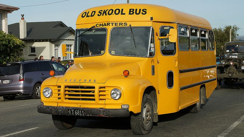 1977 Bedford School Bus With Images Bus School Bus Old