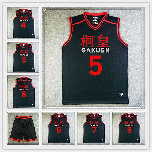0ecf9a62ed8 Find More Sports Jerseys Information about GAKUEN High School #5 Aomine  Daiki Basketball Jersey And Shorts Kuroko no Basuke Mens Basketball Cosplay  Costumes ...