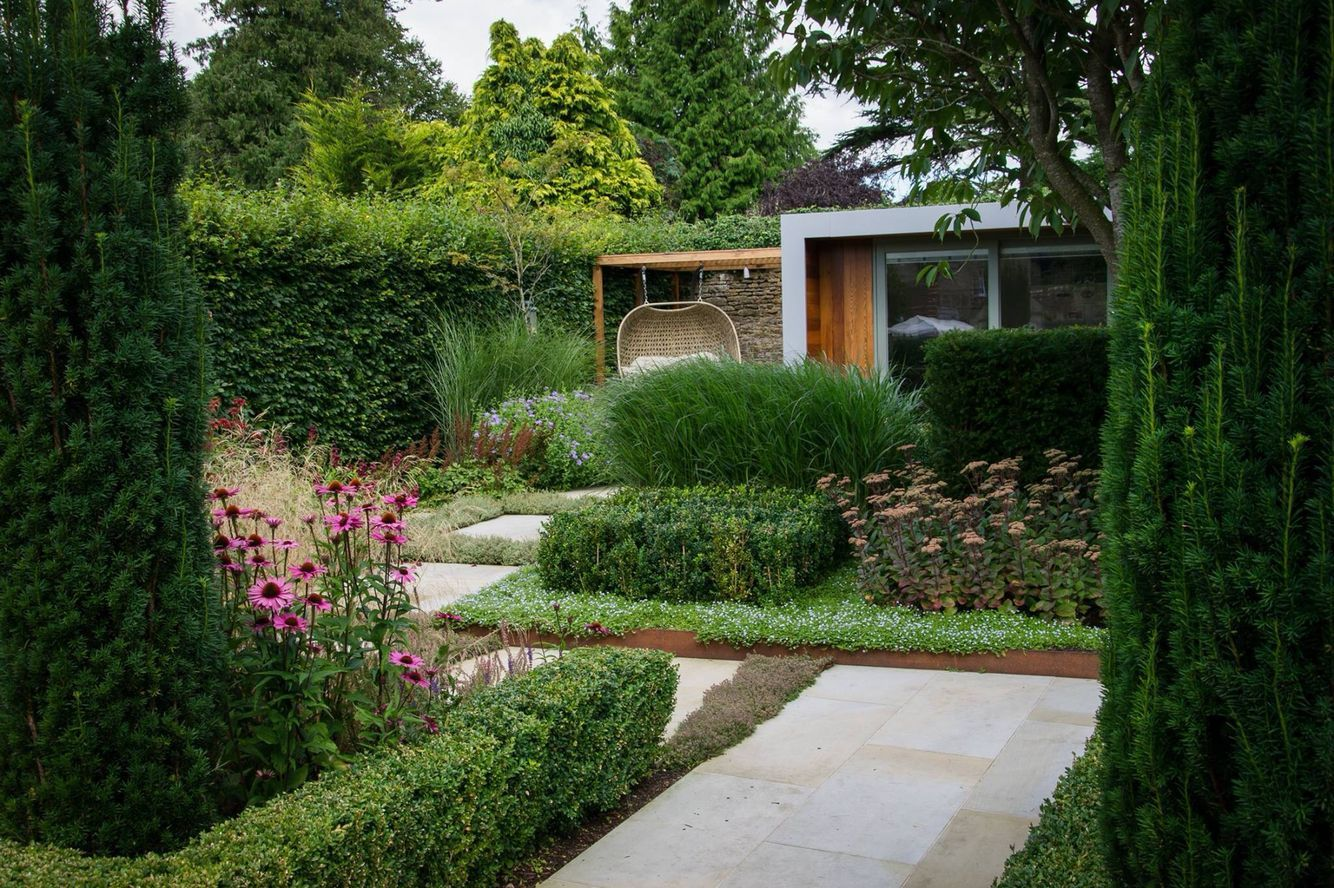 structured beds, right angles in the garden | Modern ...