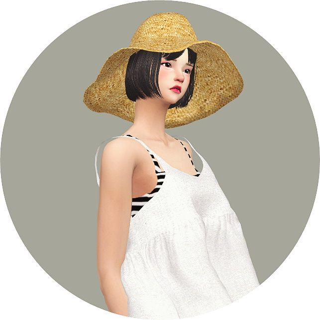 Wide Floppy Hat at Marigold • Sims 4 Updates