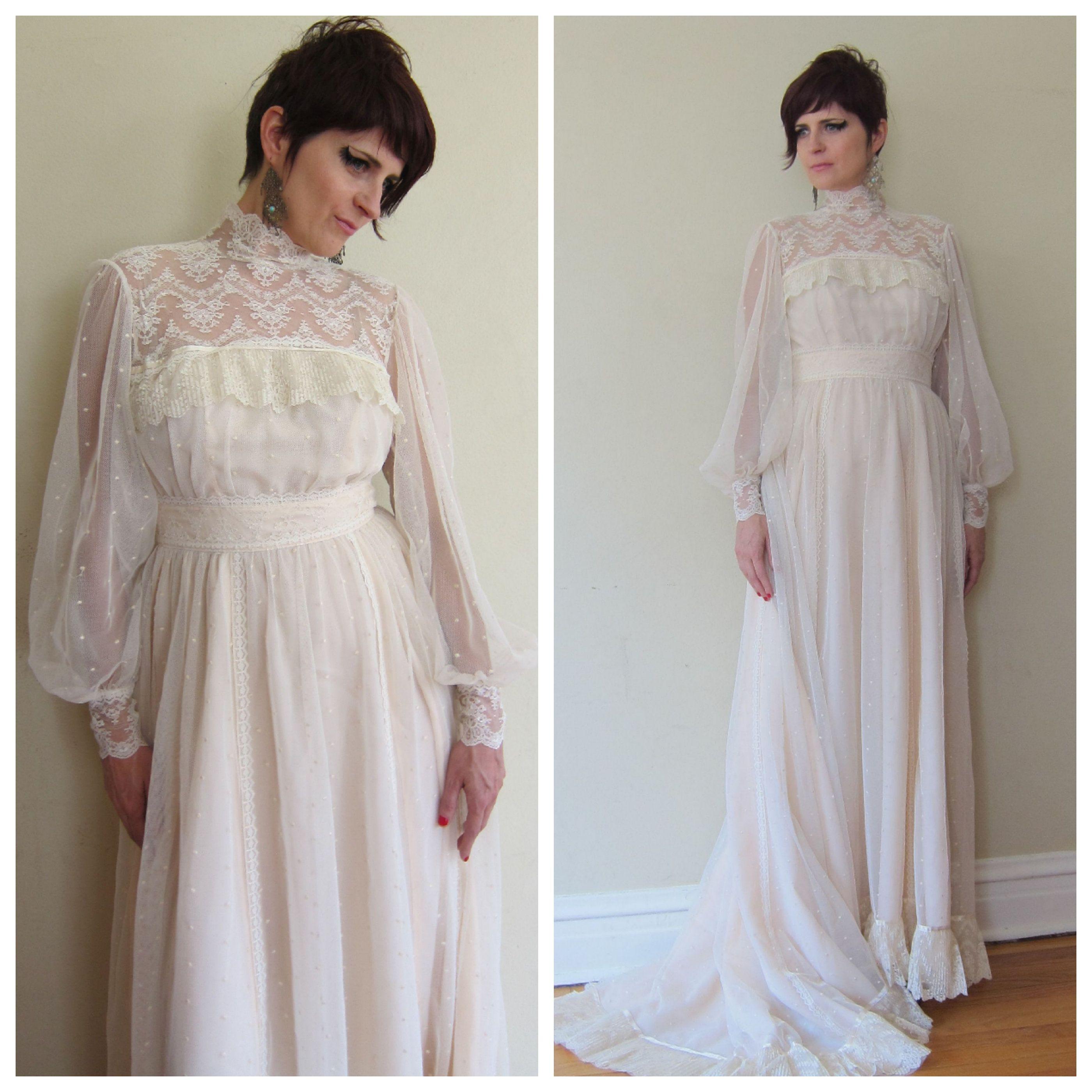 S wedding dress s neo edwardian wedding dress ivory mesh