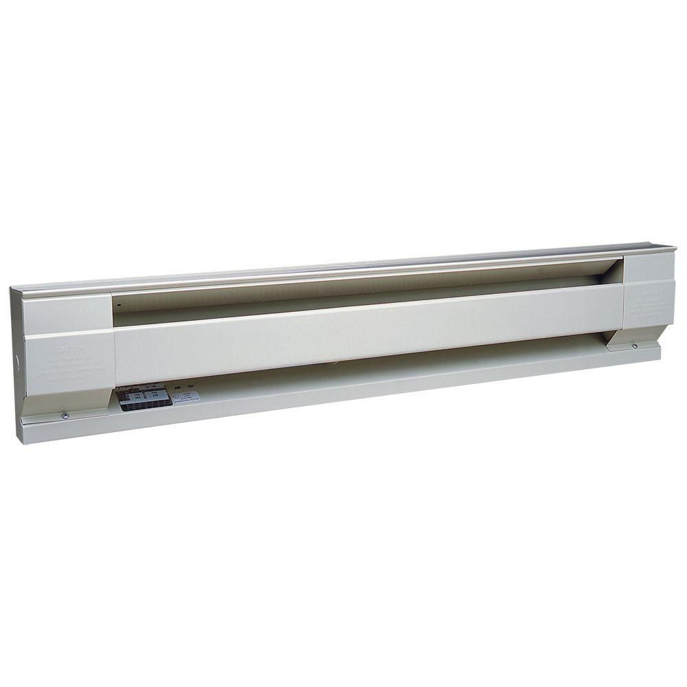 Wall Heater Home Depot 60 in. 1250-watt 208-volt electric baseboard heater in white