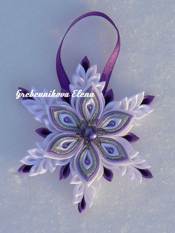 kanzashi christmas pinterest ornaments