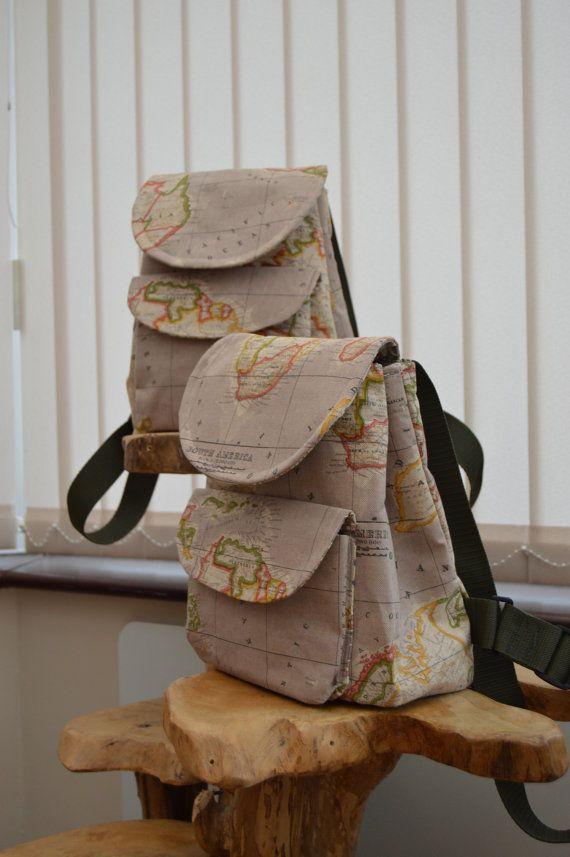 Backpack rucksack bag small brown worldmap fabric design own worldmap backpacksylisting212980546backpackrucksackbag small brown gumiabroncs Images