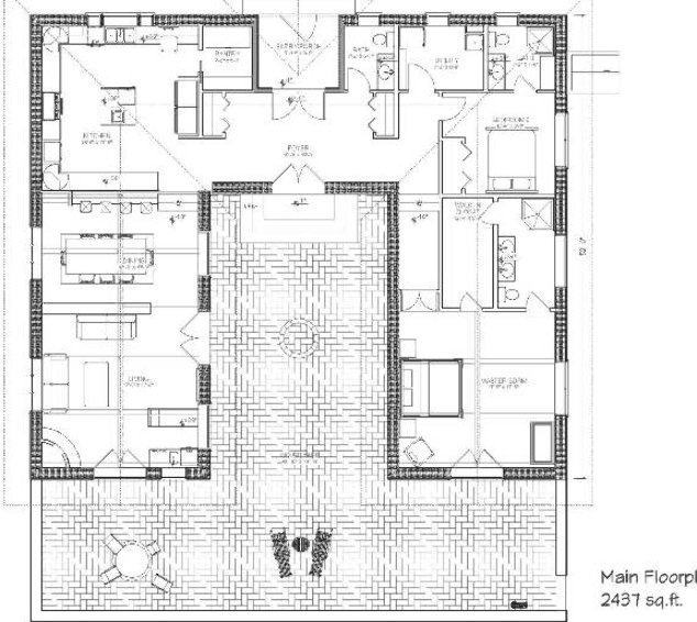 Innovative Nice Hacienda Style House Plans 4 Hacienda House Plans In 2020 Hacienda Style Homes Courtyard House Plans House Plans