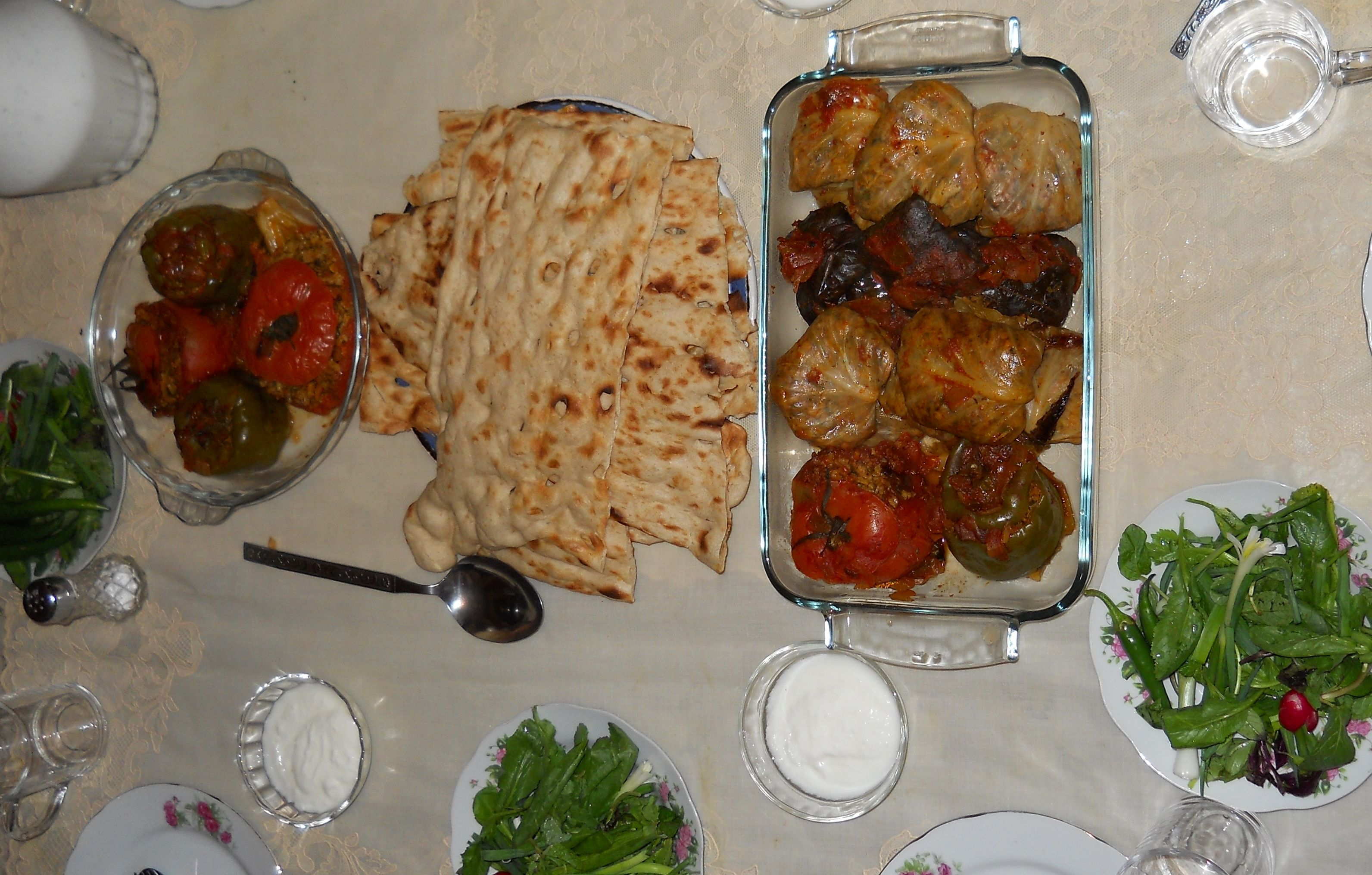 Cabbage roll and stuffed bell pepper. very popular Persian food.