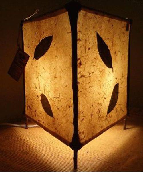 luminária artesanal de papel vegetal